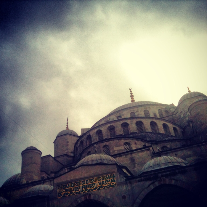 Blue Mosque up close