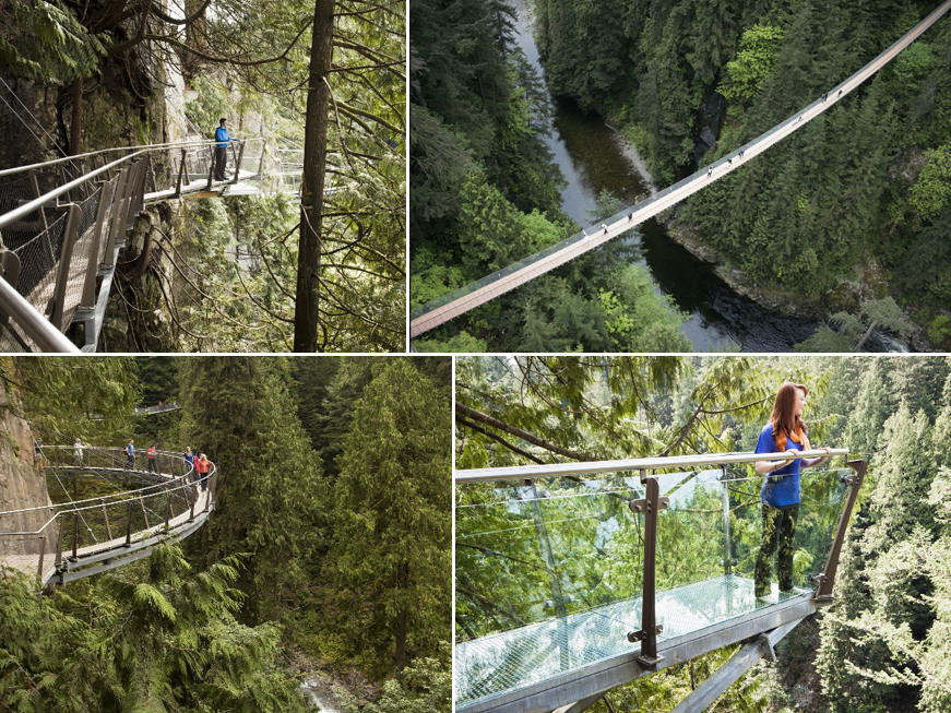Scariest Cliff Walks | World's Craziest Cliff Walks | Capilano Suspension Bridge Park