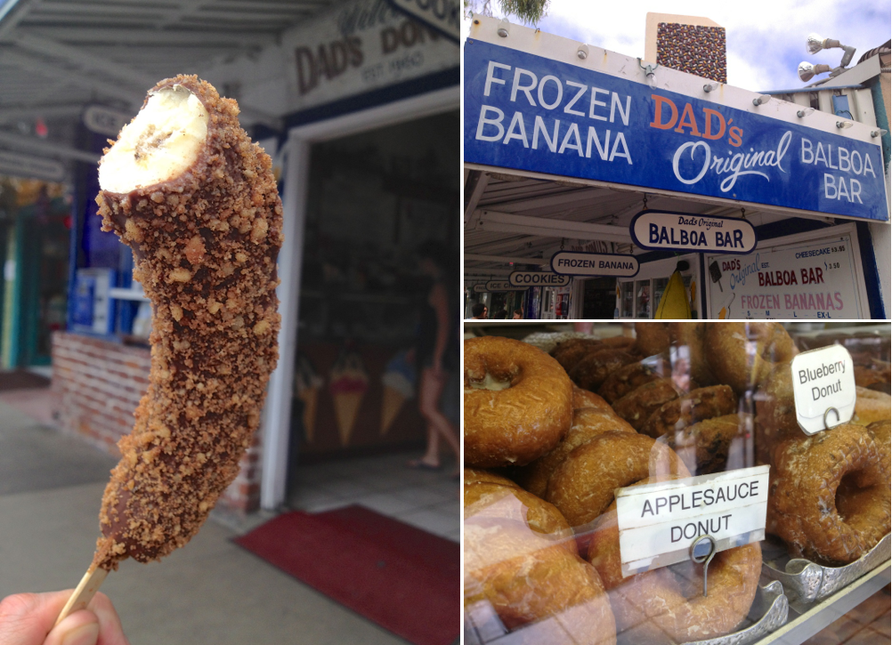 Things to do in Newport Beach - Dad's Frozen Banana - Trevor Morrow Travel