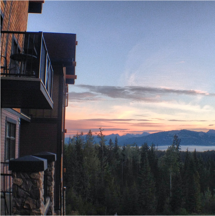 Sunrise at Kicking Horse Mountain Resort, Golden. Golden, British Columbia, Photos