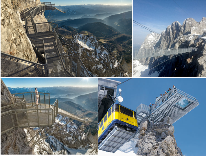 Scariest Cliff Walks | World's Craziest Cliff Walks |  Dachstein Cliff Walk