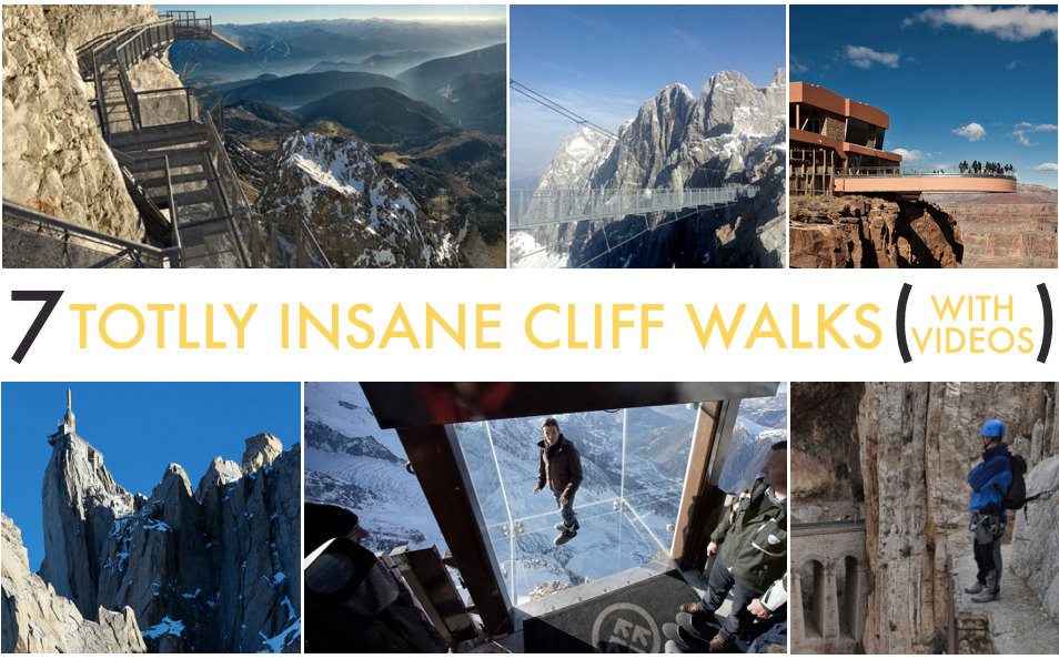 The 7 Scariest Cliff Walks | Insane Paths, Glass Floors & More
