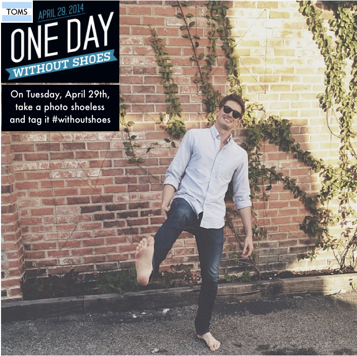 One Day Without Shoes 2014 | Travel Writer and Host, Trevor Morrow