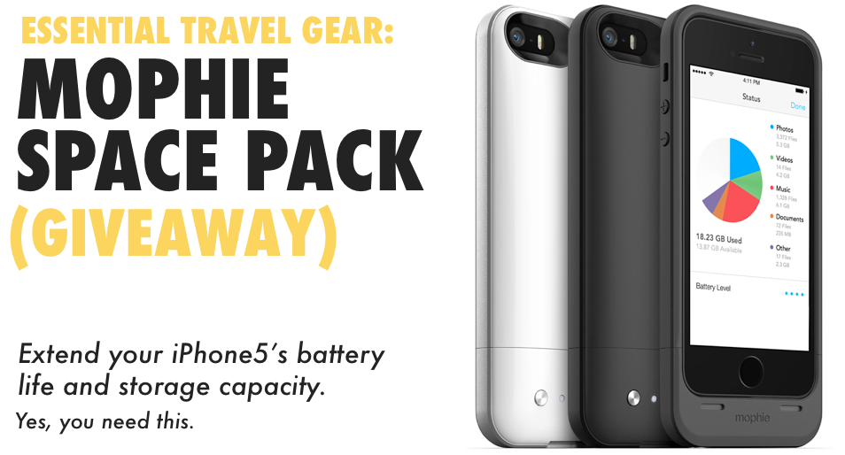 Mophie Space Pack - Essential Travel Gear