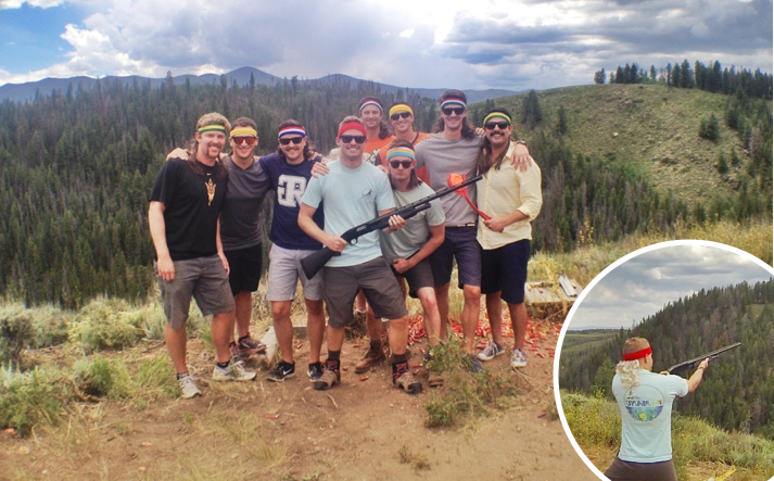 breckenridge bachelor party things to do in Breckinridge shooting