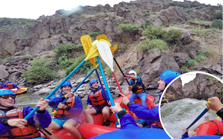 breckenridge bachelor party things to do in Breckinridge white water rafting