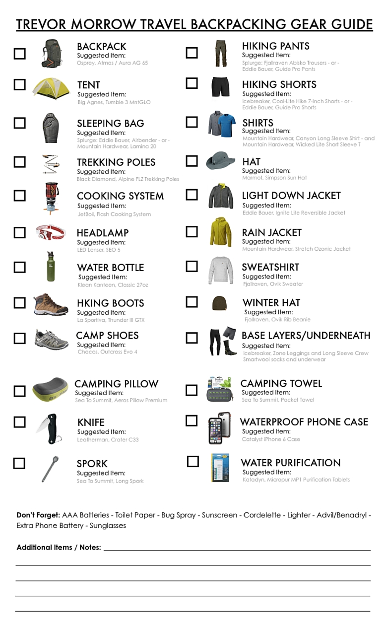 Backpacking Gear List This Is Literally Everything You Ll