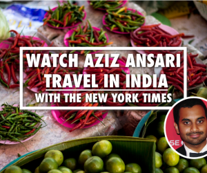 Aziz Ansari Visits India